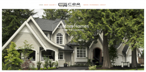 CER Custom Homes - Web Design Vancouver
