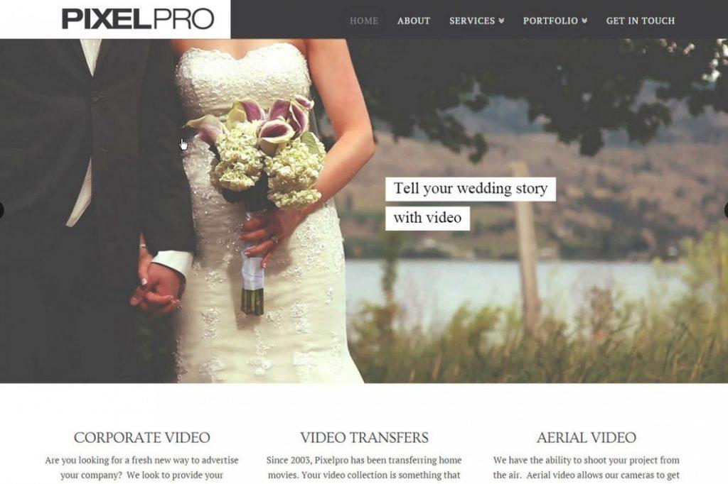 Videographer Web Design - PixelPro Productions