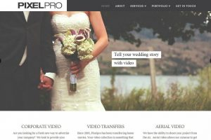 Videographer Web Design - PixelPro Productions