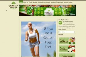 Local Food Market, Web Design - Quality Greens