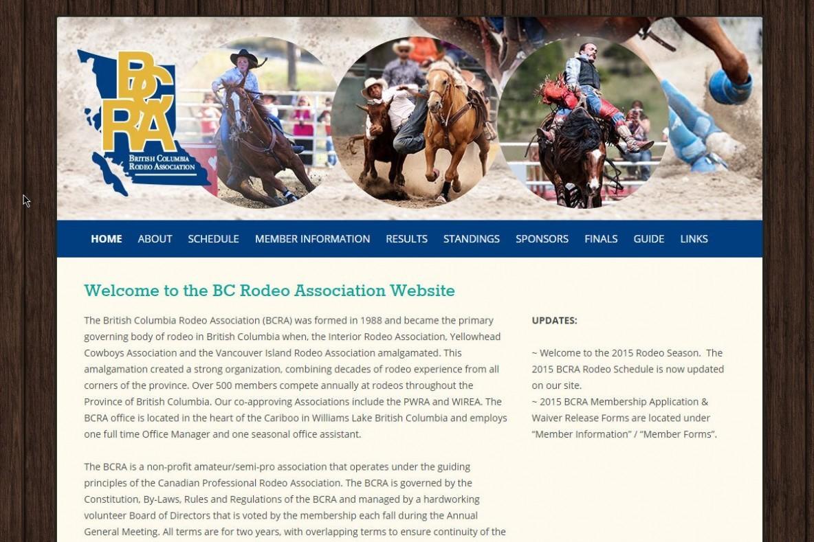 Rodeo BC Web Design