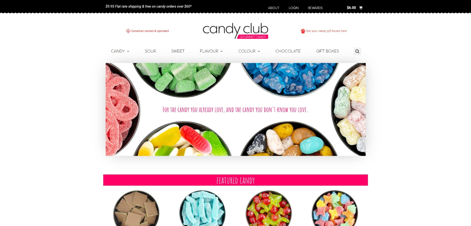 Candy Club ECommerce Store