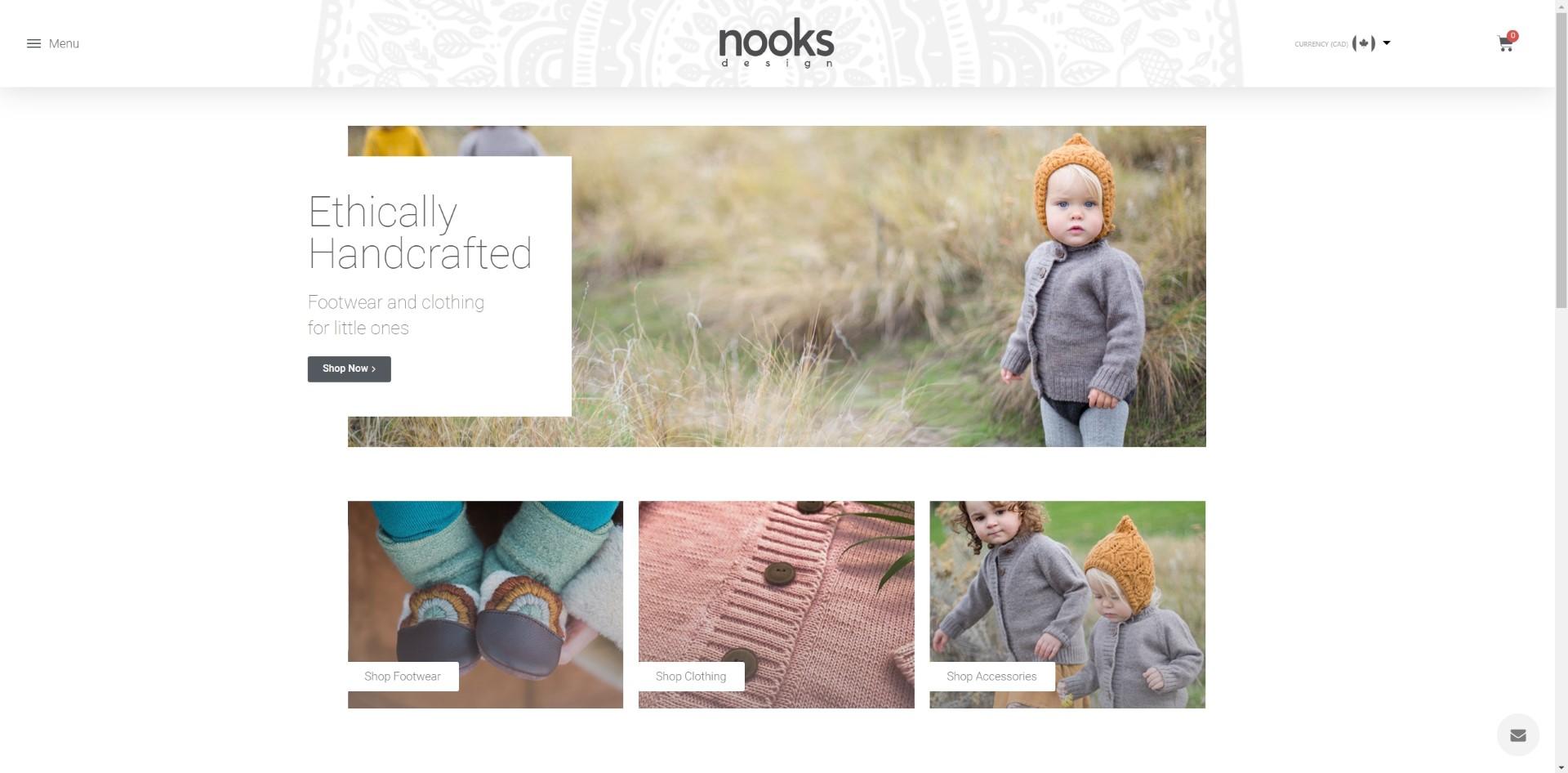 Nooks Design - ECommerce Store